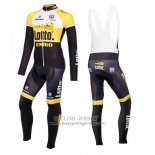 2015 Jersey Lotto NL Jumbo Long Sleeve Yellow And Black