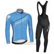 2016 Jersey Specialized Long Sleeve Black And Sky Blue