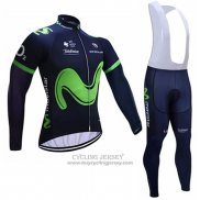 2017 Jersey Movistar Long Sleeve Black