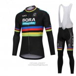 2018 Jersey UCI Mondo Champion Bora Long Sleeve Black