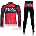 2011 Jersey BMC Long Sleeve Red And Black