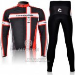 2011 Jersey Cannondale Long Sleeve Black And Red