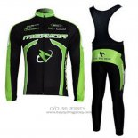 2011 Jersey Merida Long Sleeve Black And Green