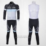 2011 Jersey Trek Leqpard Long Sleeve Black And Sky Blue