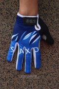 2012 Saxo Bank Full Finger Gloves Blue