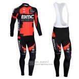 2013 Jersey BMC Long Sleeve Black And Red