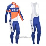 2013 Jersey Rabobank Long Sleeve Blue And White