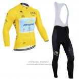 2014 Jersey Astana Long Sleeve Lider Yellow