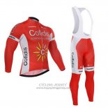 2015 Jersey Cofidis Long Sleeve Red