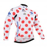 2015 Jersey Tour de France Long Sleeve White And Red