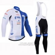 2015 Jersey UHC Long Sleeve White And Sky Blue