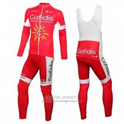 2016 Jersey Cofidis Long Sleeve White And Red