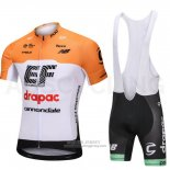 2018 Jersey Cannondale Drapac White and Orange