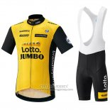 2018 Jersey Lotto NL Jumbo Yellow and Black