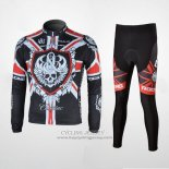2010 Jersey Rock Racing Long Sleeve Black And Red
