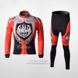 2010 Jersey Rock Racing Long Sleeve Red And Light Blue
