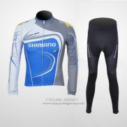 2011 Jersey Shimano Long Sleeve Blue And Gray