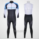2011 Jersey Shimano Long Sleeve Blue And White