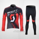 2012 Jersey Scott Long Sleeve Black And Red