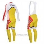 2014 Jersey Fox CyclingBox Long Sleeve White And Yellow