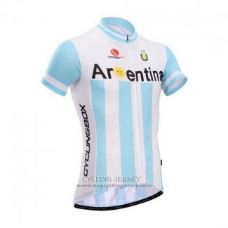 2014 Jersey Fox CyclingBox White And Sky Blue