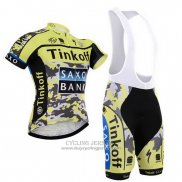 2015 Jersey Tinkoff Saxo Bank Black And Yellow