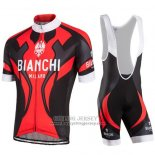2016 Jersey Bianchi Black And Red
