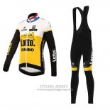 2016 Jersey Lotto NL Jumbo Long Sleeve Yellow And Black