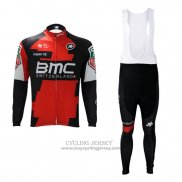 2017 Jersey BMC Long Sleeve Red And White