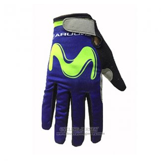 2017 Movistar Full Finger Gloves