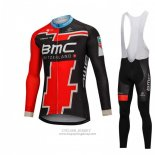 2018 Jersey BMC Long Sleeve Black and Red