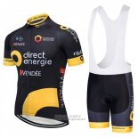 2018 Jersey Direct Energie Black and Yellow