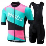2018 Jersey Morvelo Green and Pink