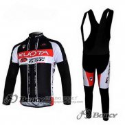 2011 Jersey Kuota Long Sleeve Black And White