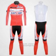 2012 Jersey Katusha Long Sleeve White And Orange