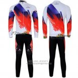 2012 Jersey Nalini Long Sleeve Red And White
