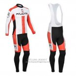 2013 Jersey Kuota Long Sleeve White And Red