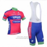 2013 Jersey Lampre Merida Pink And Sky Blue