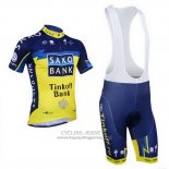 2013 Jersey Tinkoff Saxo Bank Blue And Yellow