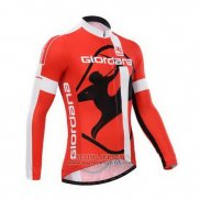 2014 Jersey Giordana Long Sleeve Red And White