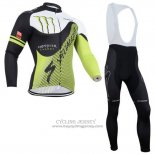 2014 Jersey Specialized Long Sleeve Black And Green