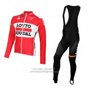 2015 Jersey Lotto Soudal Long Sleeve Red And White