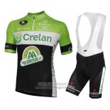 2016 Jersey Crelan AA Green And Black
