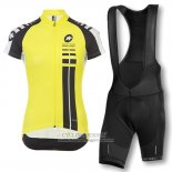 2016 Jersey Women Assos Black And Yellow