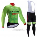 2017 Jersey Cannondale Drapac Long Sleeve Green