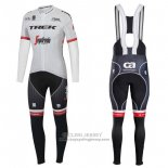 2017 Jersey Trek Segafredo Long Sleeve White