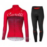 2017 Jersey Women Castelli Long Sleeve Red