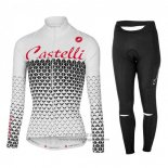 2017 Jersey Women Castelli Long Sleeve White