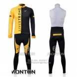 2009 Jersey Livestrong Long Sleeve Black And Yellow