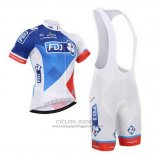 2015 Jersey FDJ White And Blue